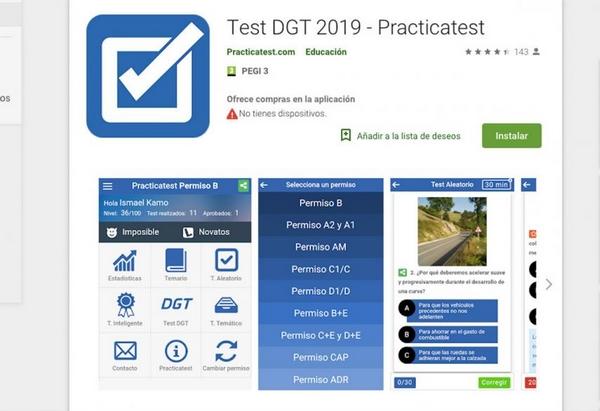 mejores app para test de conducir 2019-test dgt 2019