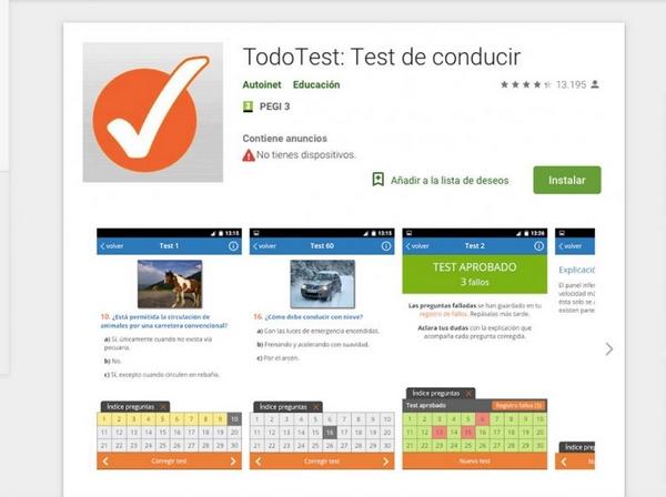mejores app para test de conducir 2019-todo-test