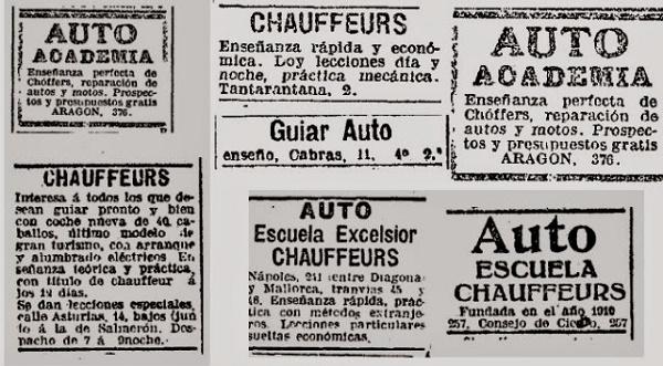 Escuela de Chauffeurs, la primera autoescuela de España